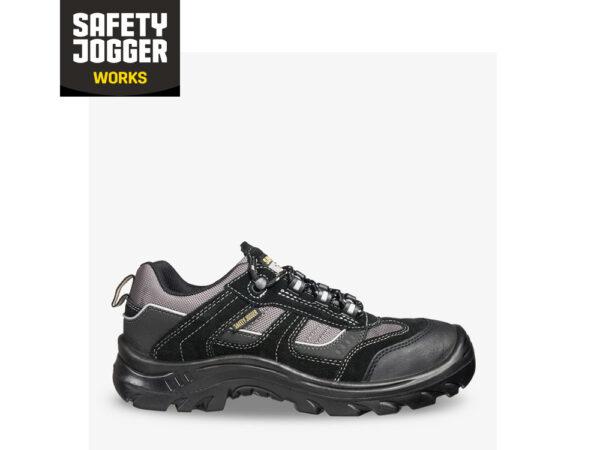 black shoe with laces