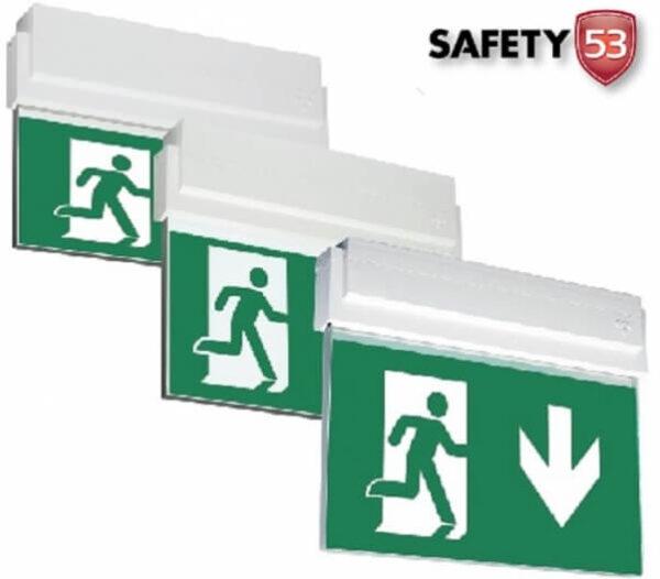 down arrow signs.